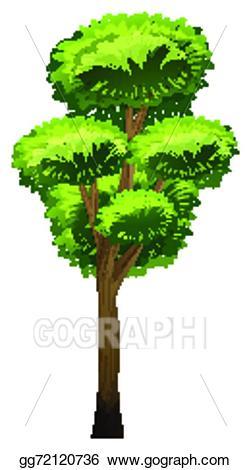 Vector art a drawing. Tall clipart tall tall tall tree