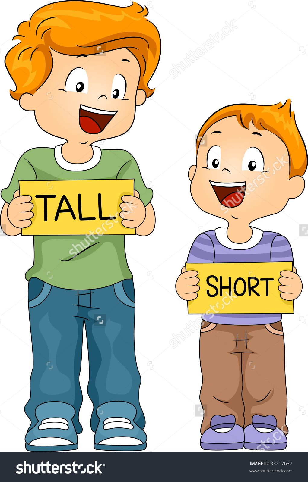 Short and buscar con. Tall clipart