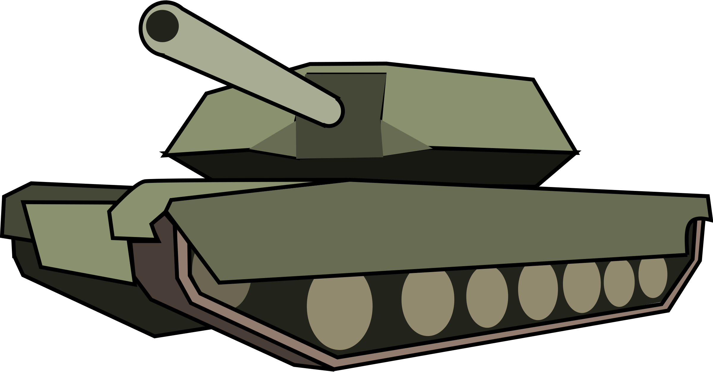 Military clipart simple tank.