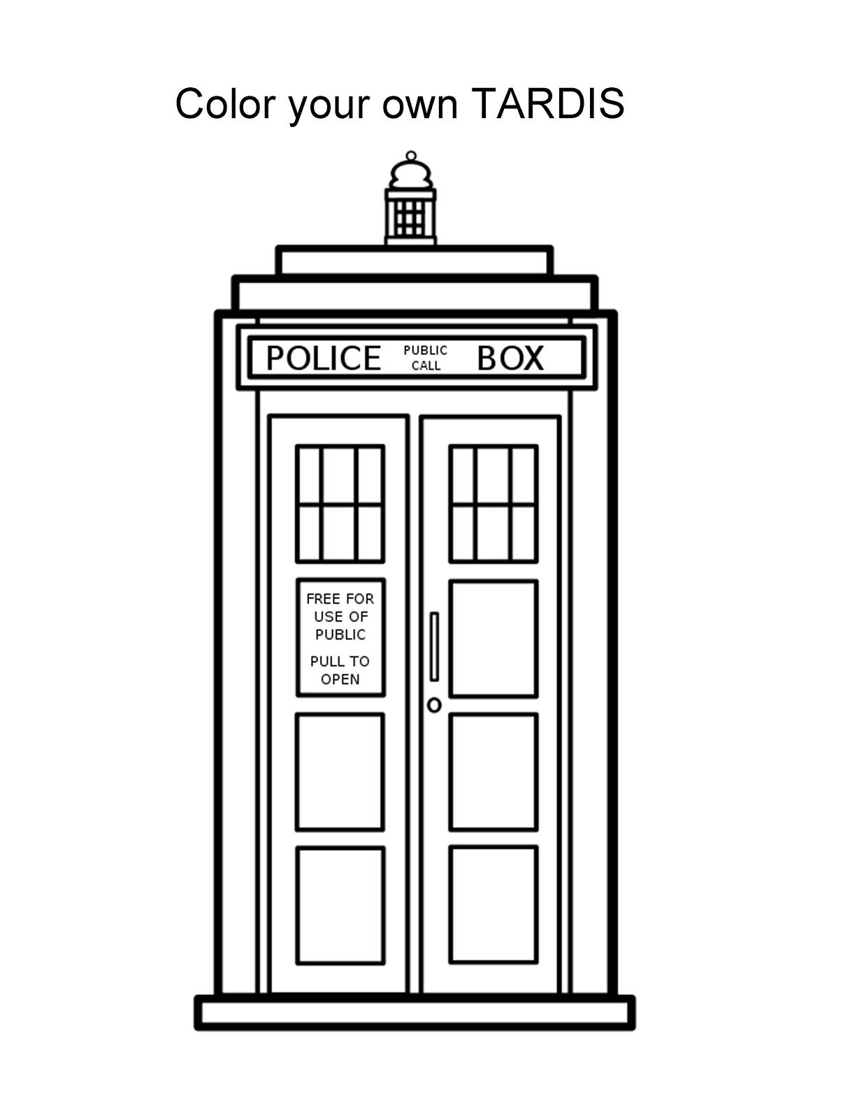 Tardis clipart. Clip art for the