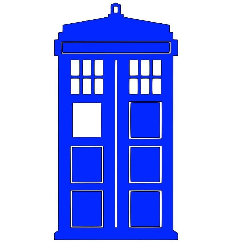 Dr who svg file. Tardis clipart