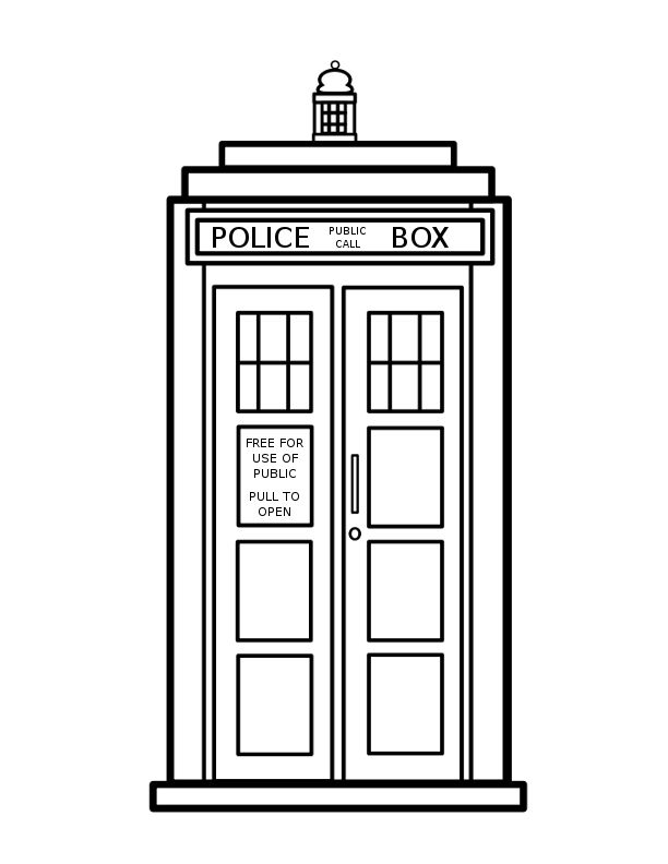 Doctor who . Tardis clipart