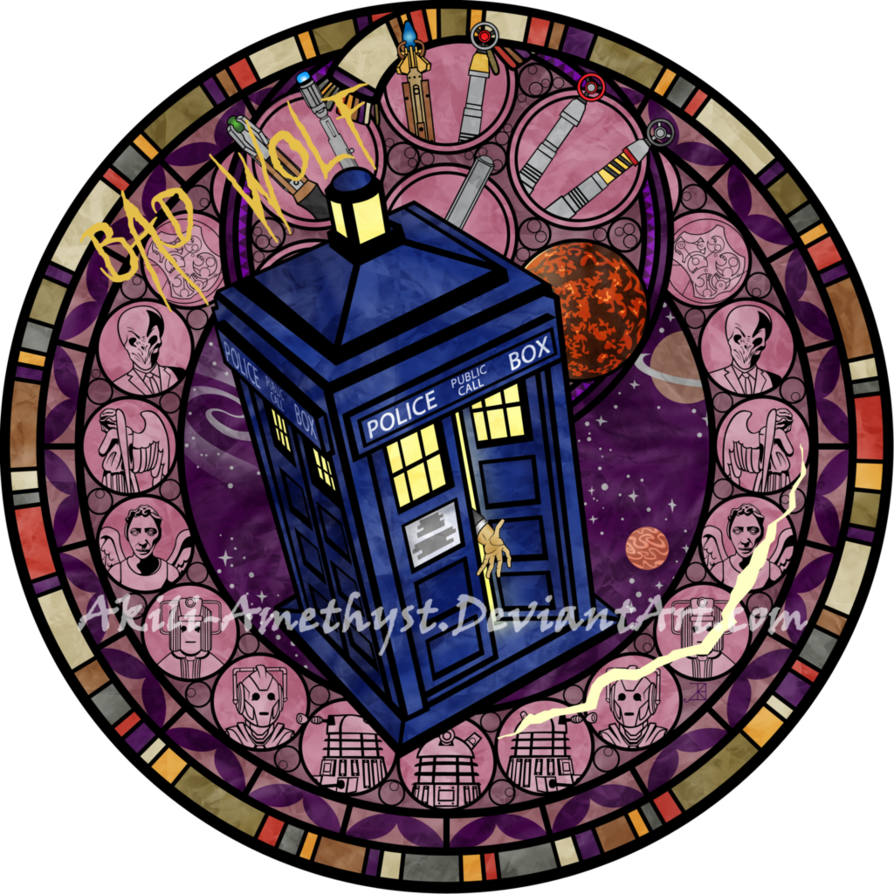 Tardis clipart current. Stained glass doctor who