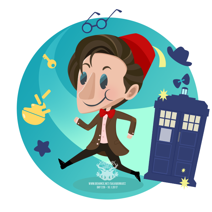 Tardis clipart eleventh doctor. Day the by salvadorkatz