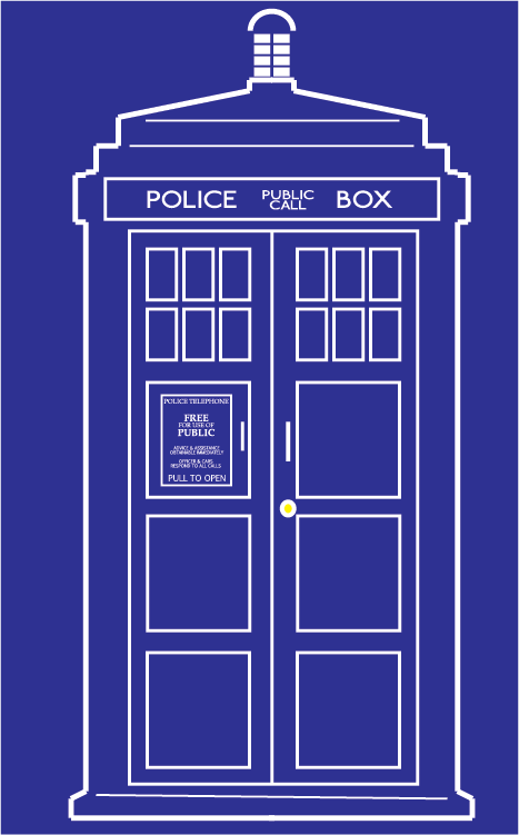 I needed an outline. Tardis clipart vector