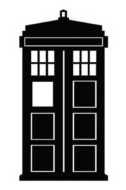 Doctor who stencil silhouette. Tardis clipart