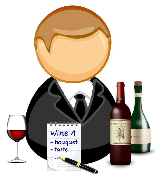 Taste clipart cartoon. Sommelier wine steward medium