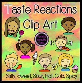 Taste clipart face. Reactions clip art literacy