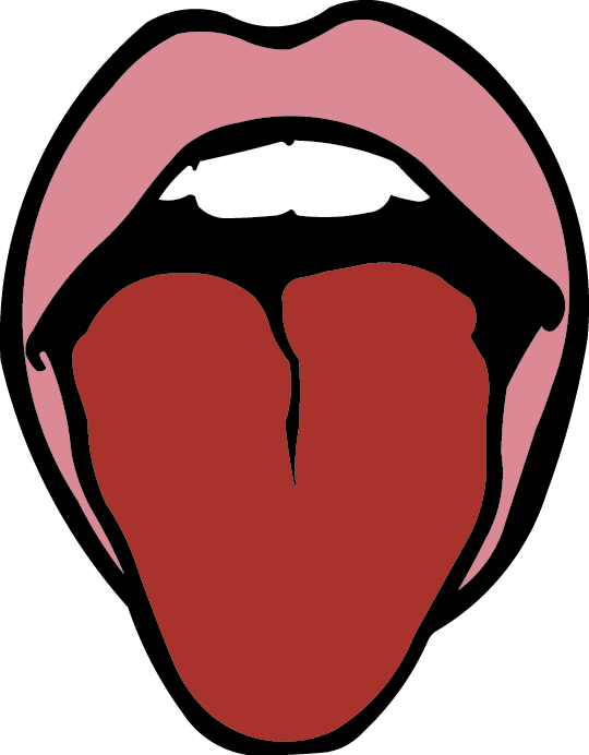 My stomach says stop. Taste clipart lip tongue