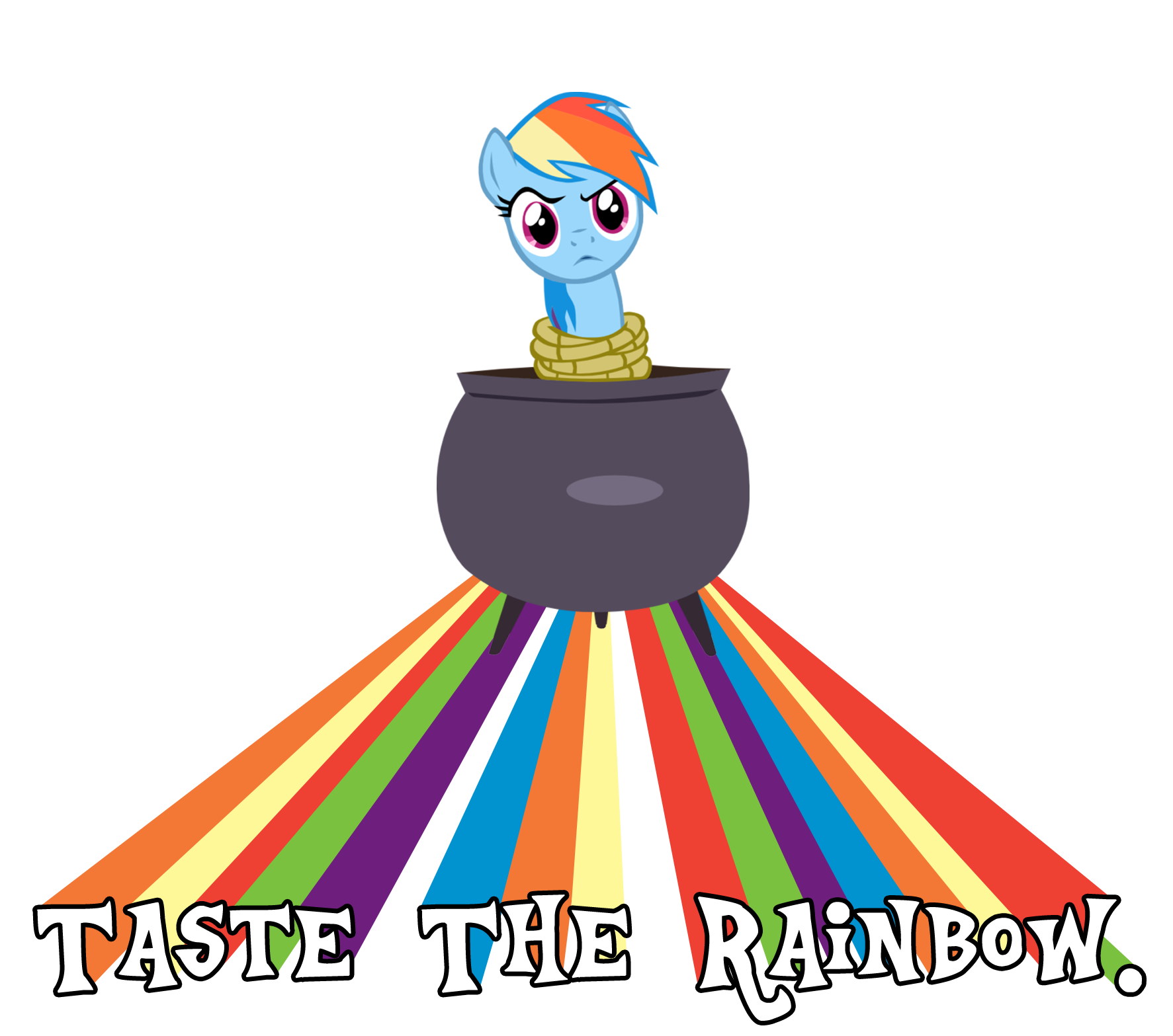 Taste clipart yuk. Image the rainbow motherfucker