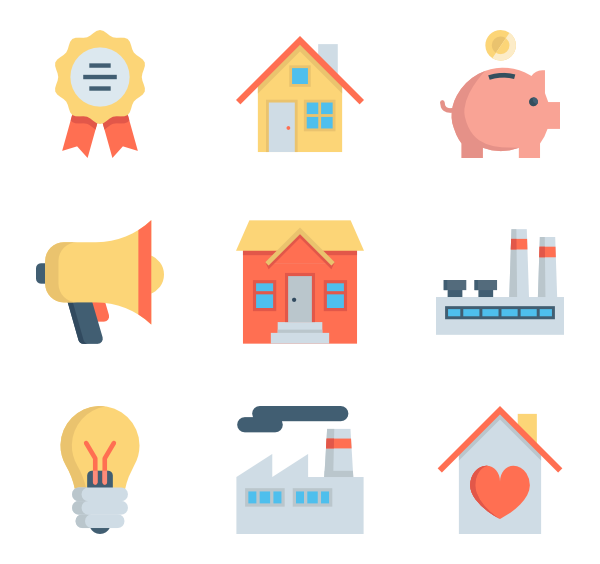 Property icons free vector. Tax clipart flat icon