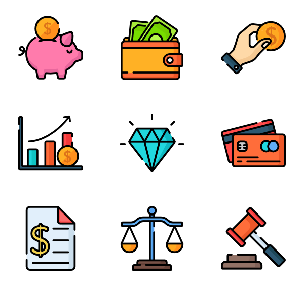 Tax clipart flat icon.  money special lineal