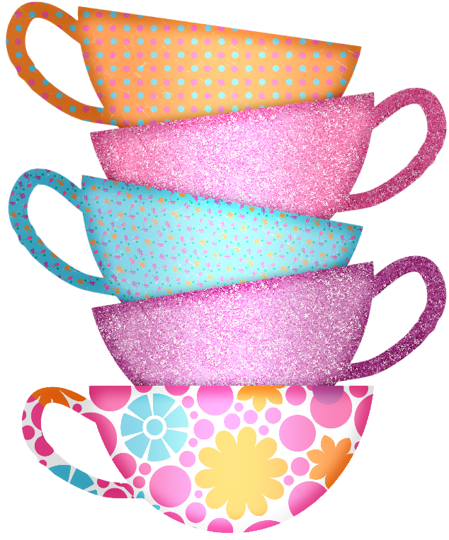 Mmd gtp cups stacked. Tea clipart afternoon snack