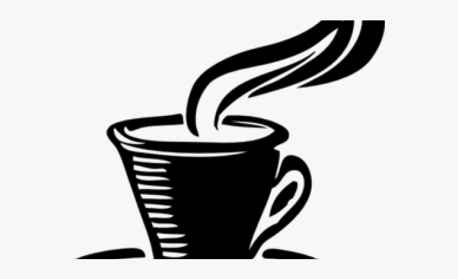 Teacup logo black and. Tea clipart cangkir