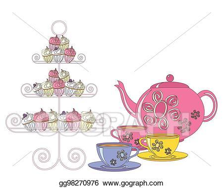 Tea clipart english tea. Eps illustration vector gg