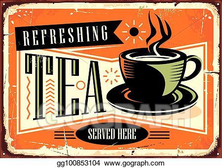 Tea clipart refreshment. Vector stock refreshing served