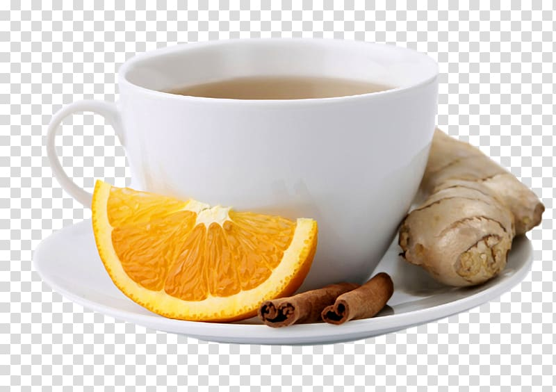 Green cup sea buckthorn. Tea clipart spice