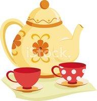 Set stock vectors me. Tea clipart teaset
