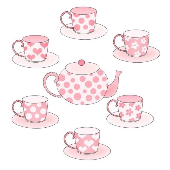 Tea clipart teaset. Free set cliparts download