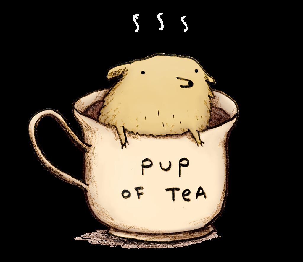 Tea clipart women's. Pup of tee fury