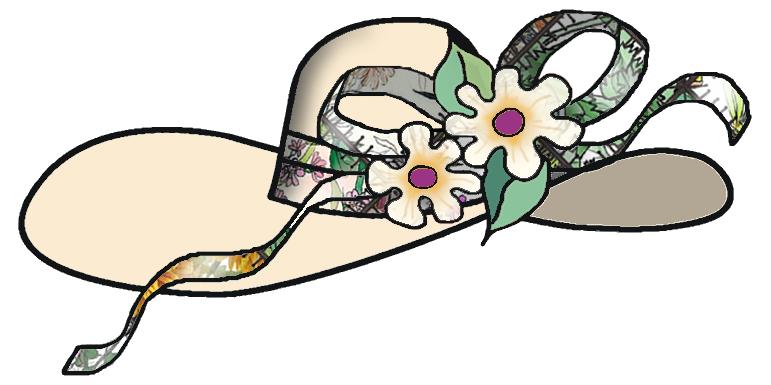Tea clipart women's. Womens hat clip art