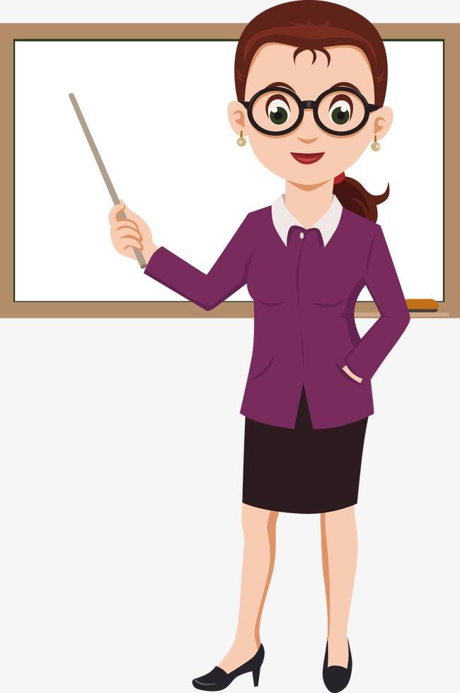 Teach vector teaching png. Clipart teacher cartoon