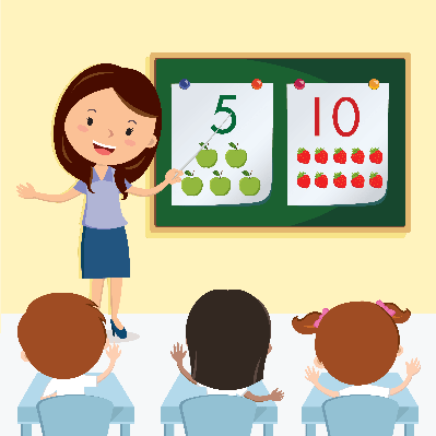 Class clipart. Teacher teaching in the