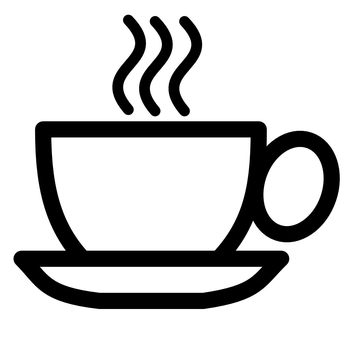 Teacup black and white. Coffee clipart