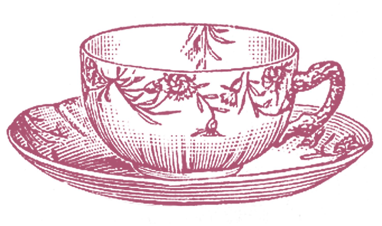 Teacup clipart. Stock images vintage floral