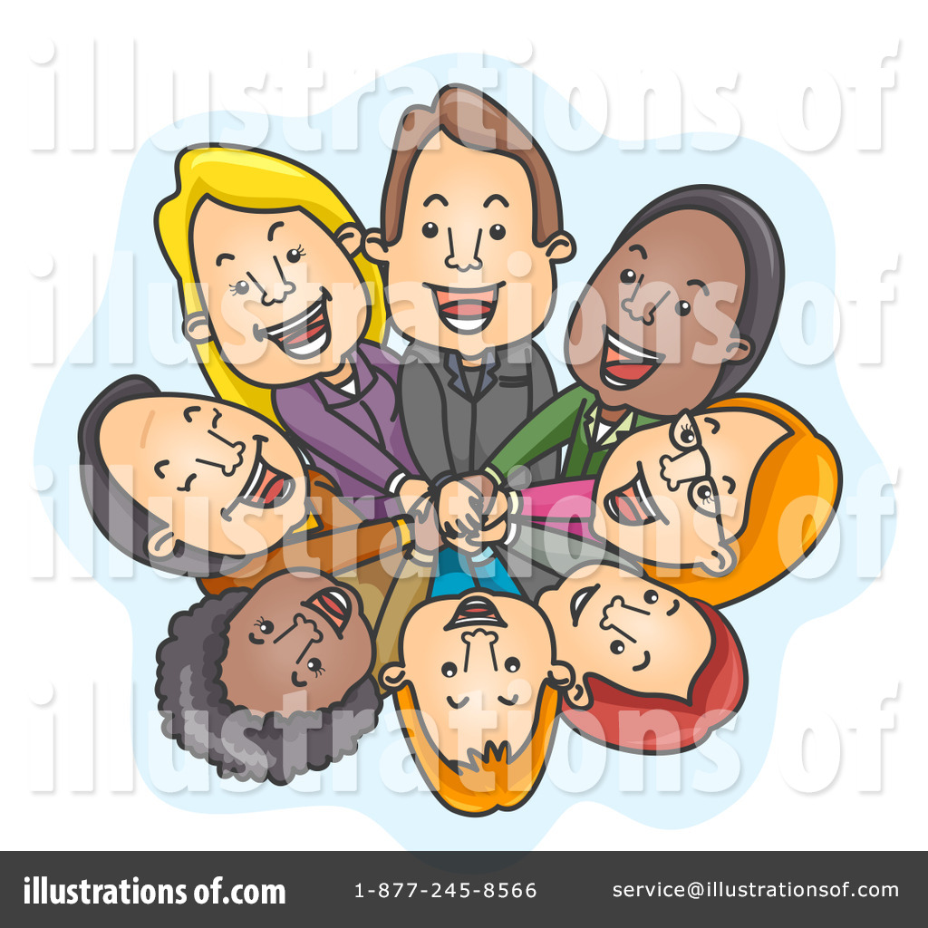 Illustration by bnp design. Teamwork clipart