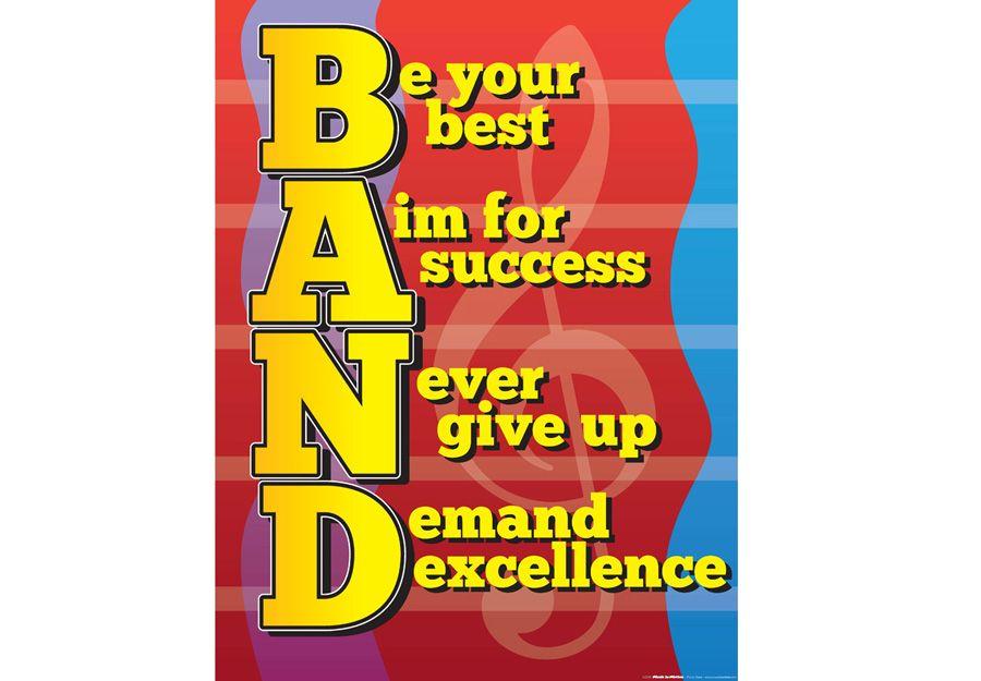 Teamwork clipart camaraderie. Band spirit poster foster