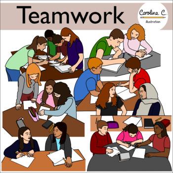 Clip art . Teamwork clipart class