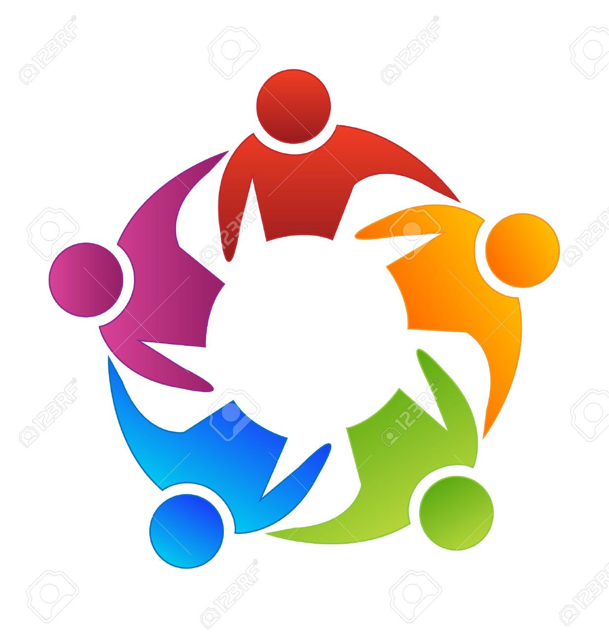 Vector icon people logo. Teamwork clipart diversity