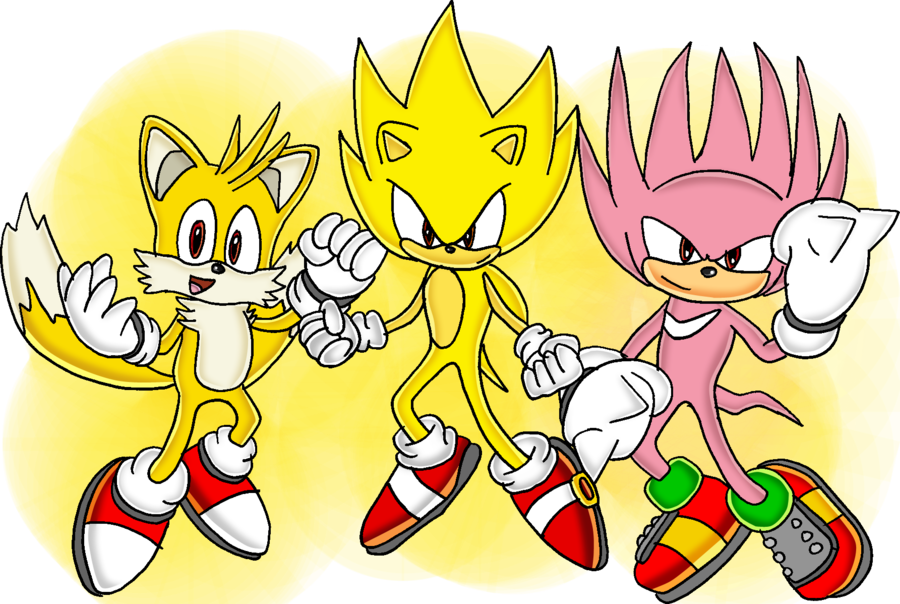 Teamwork clipart drawing. Team super sonic by