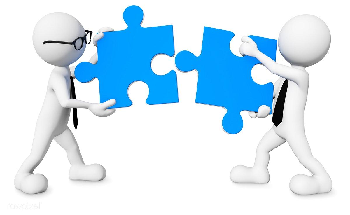 Download premium image of. Teamwork clipart free 3d man
