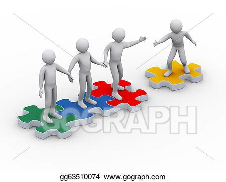 Stock illustration d on. Teamwork clipart free 3d man