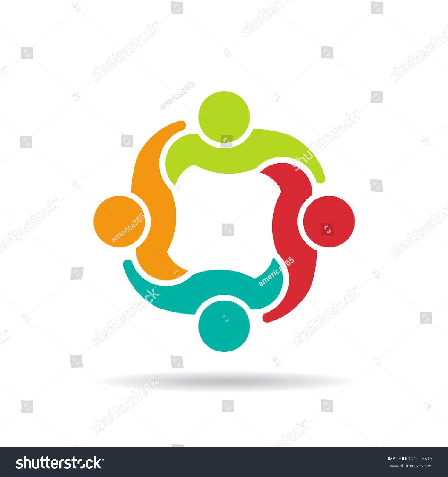 Team council concept of. Teamwork clipart group 4