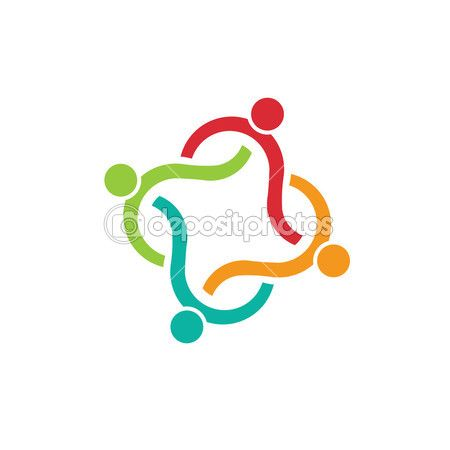 Teamwork clipart group 4. Vector abstract wave elements