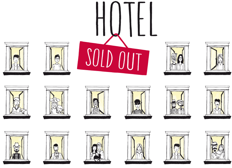 Hotel sold out l. Teamwork clipart hospitality