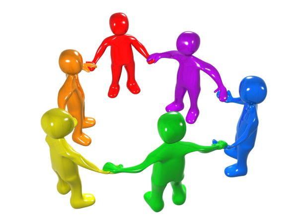 Teamwork clipart instructional coach. Diverse circle of colorful
