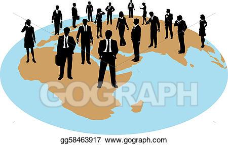 Teamwork clipart labour force. Clip art vector business