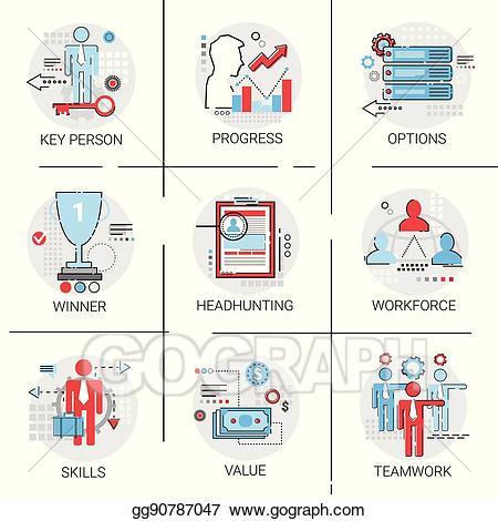 Eps vector work management. Teamwork clipart labour force
