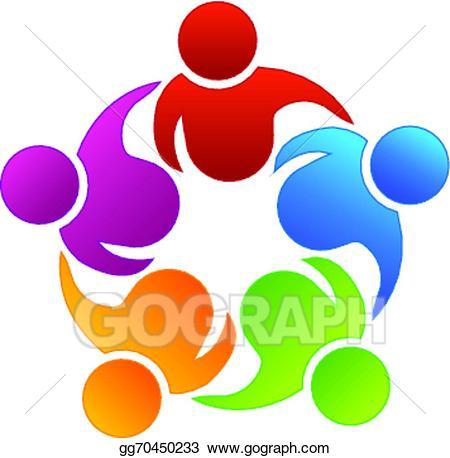 Vector business partners . Teamwork clipart logo