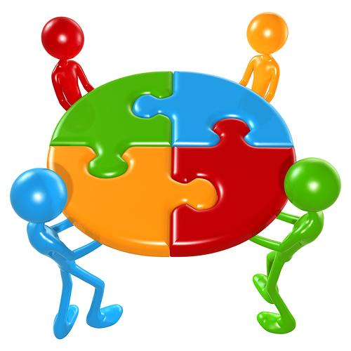Working as oneteam . Teamwork clipart one team