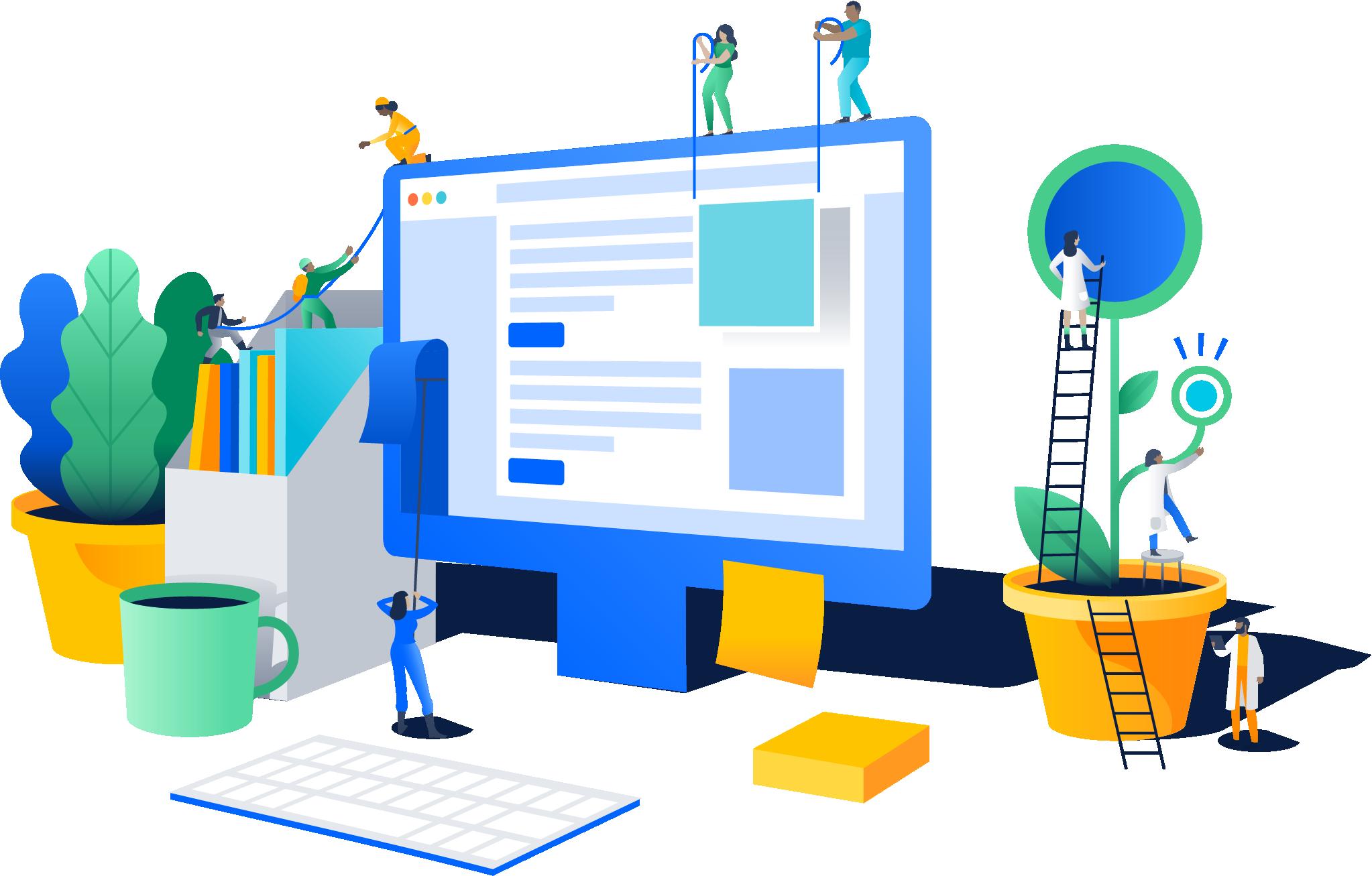 Teamwork clipart platform. Software development and collaboration