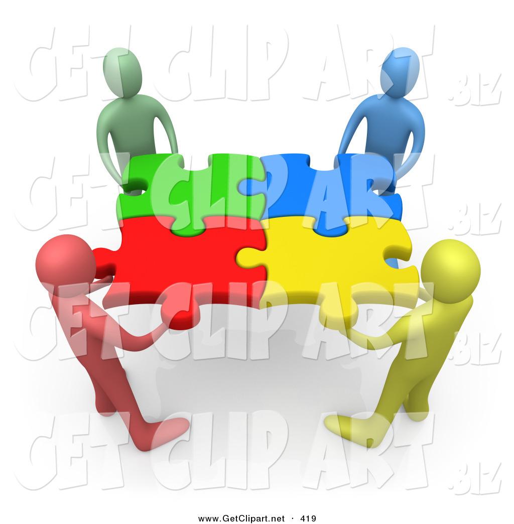 d clip art. Teamwork clipart puzzle piece