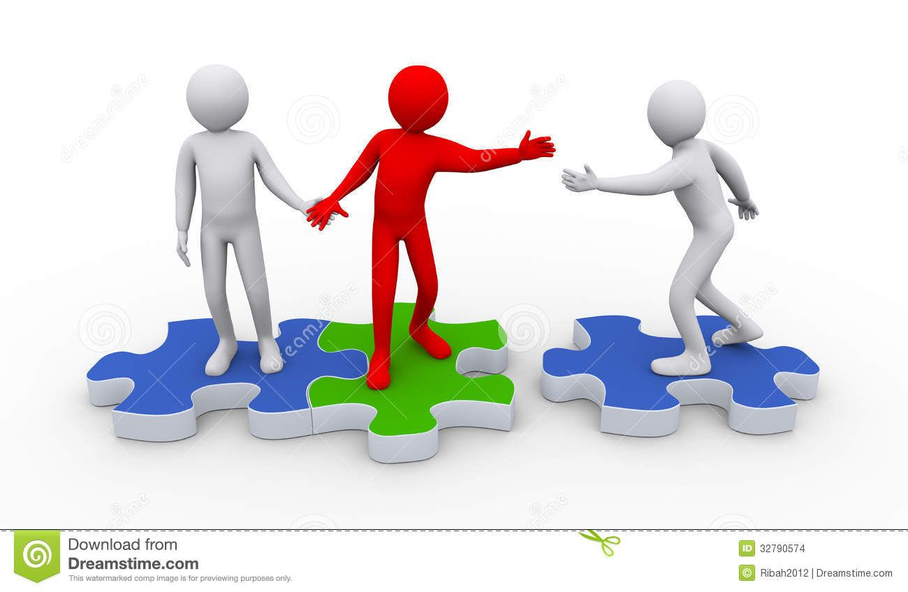 Free d animated people. Teamwork clipart puzzle piece