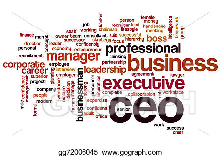 Stock illustration ceo word. Teamwork clipart successor