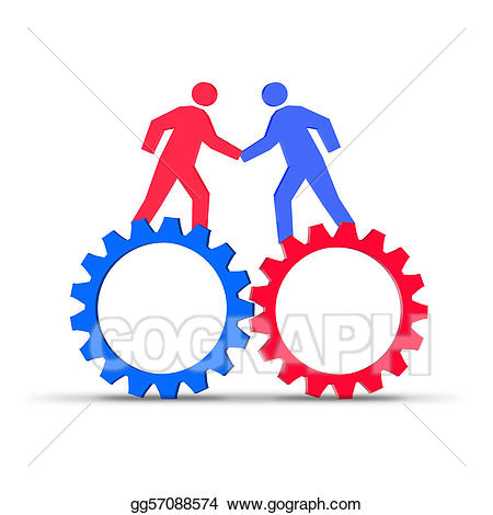 Teamwork clipart synergy. And stock illustration