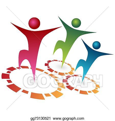 Teamwork clipart synergy. Vector team illustration